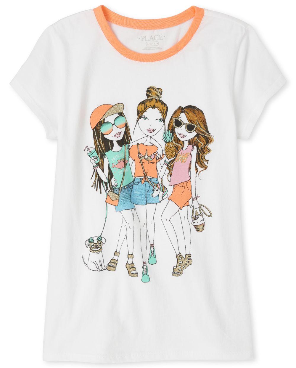 Girls Glitter Squad Graphic Tee