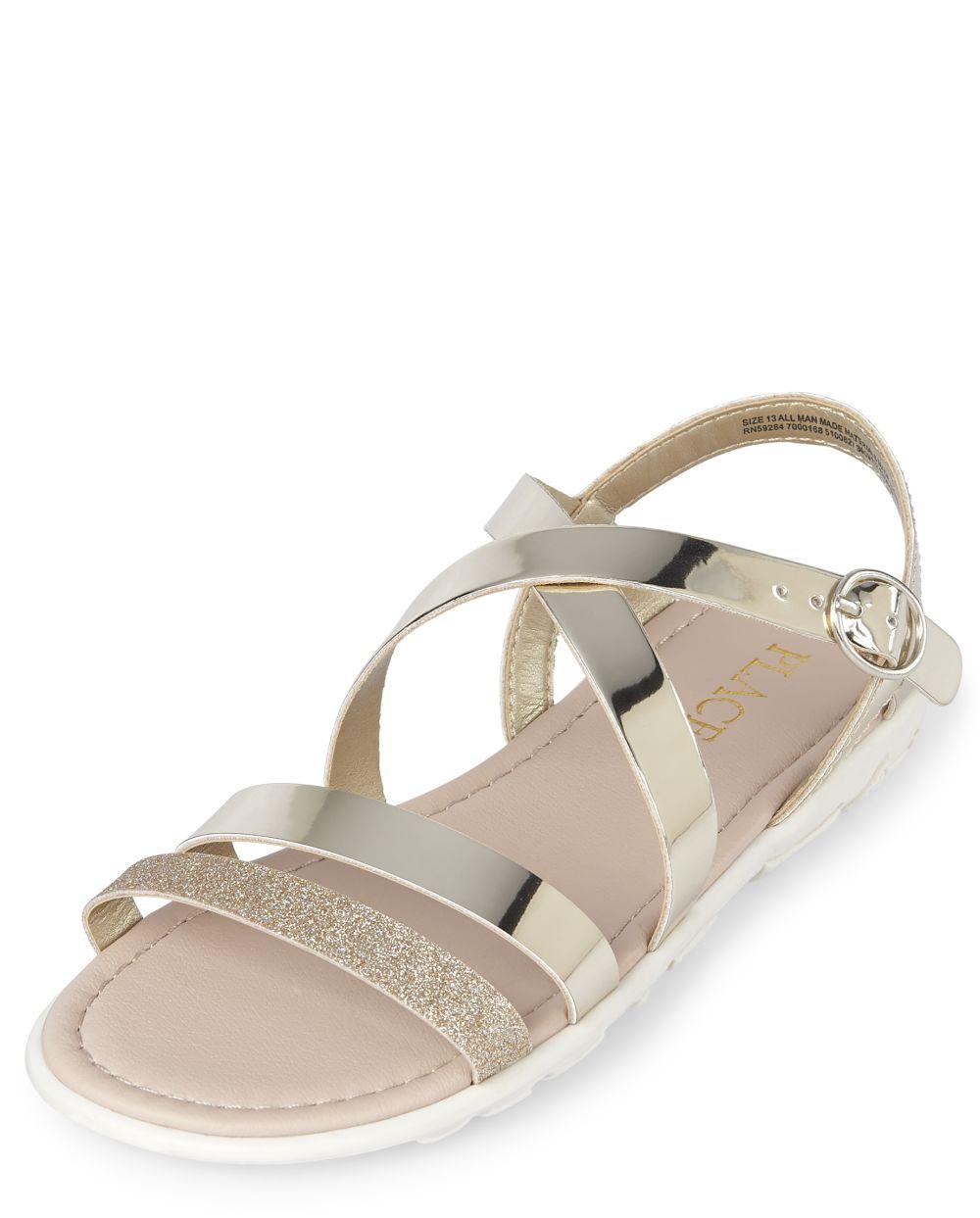 Girls Cross Strap Sandals