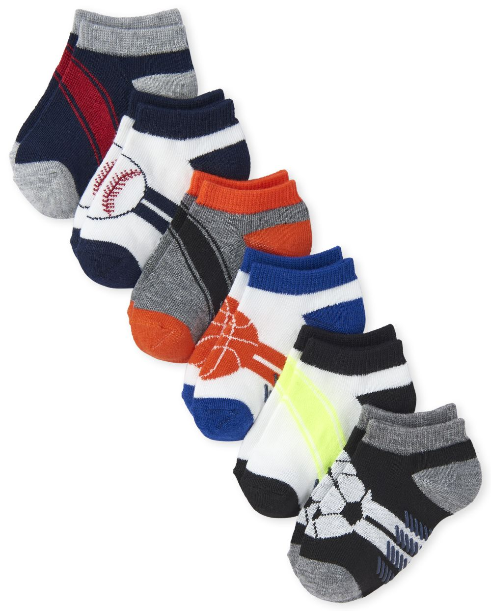 Toddler Boys Sports Ankle Socks 6-Pack
