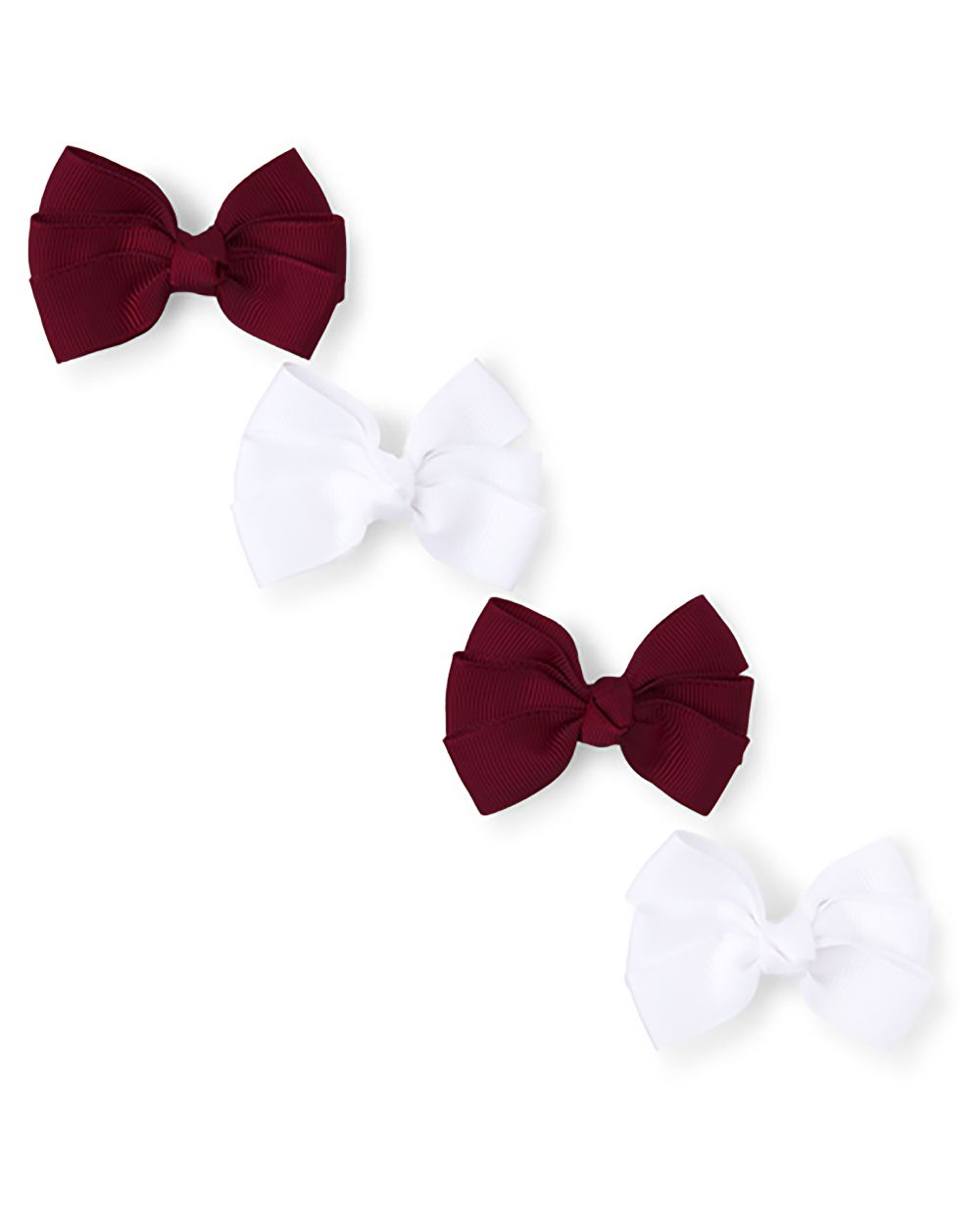 Girls Uniform Bow Hair Clip 4-Pack