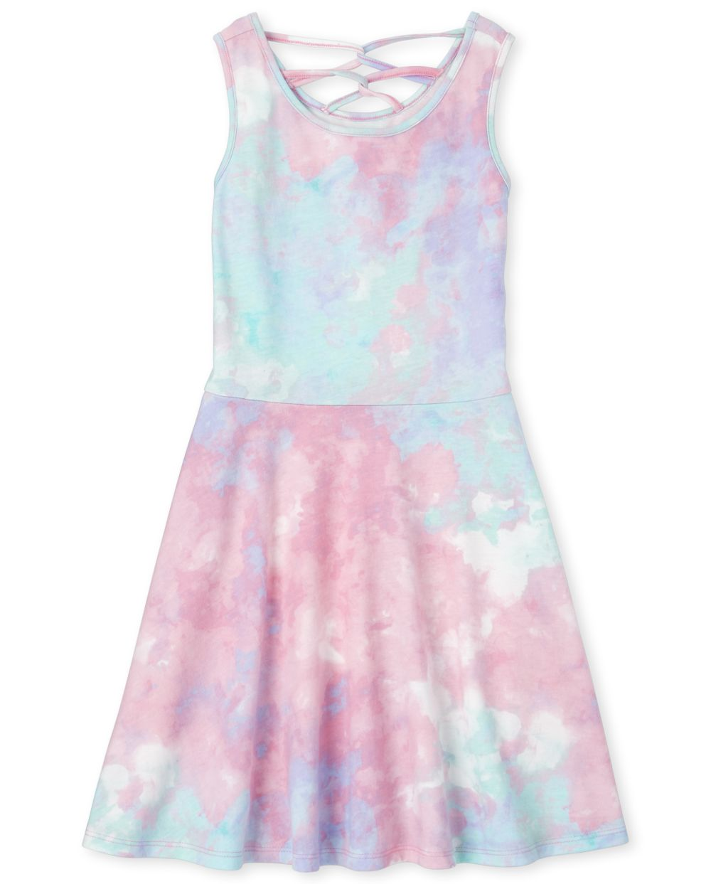 Girls Tie Dye Cut Out Dress