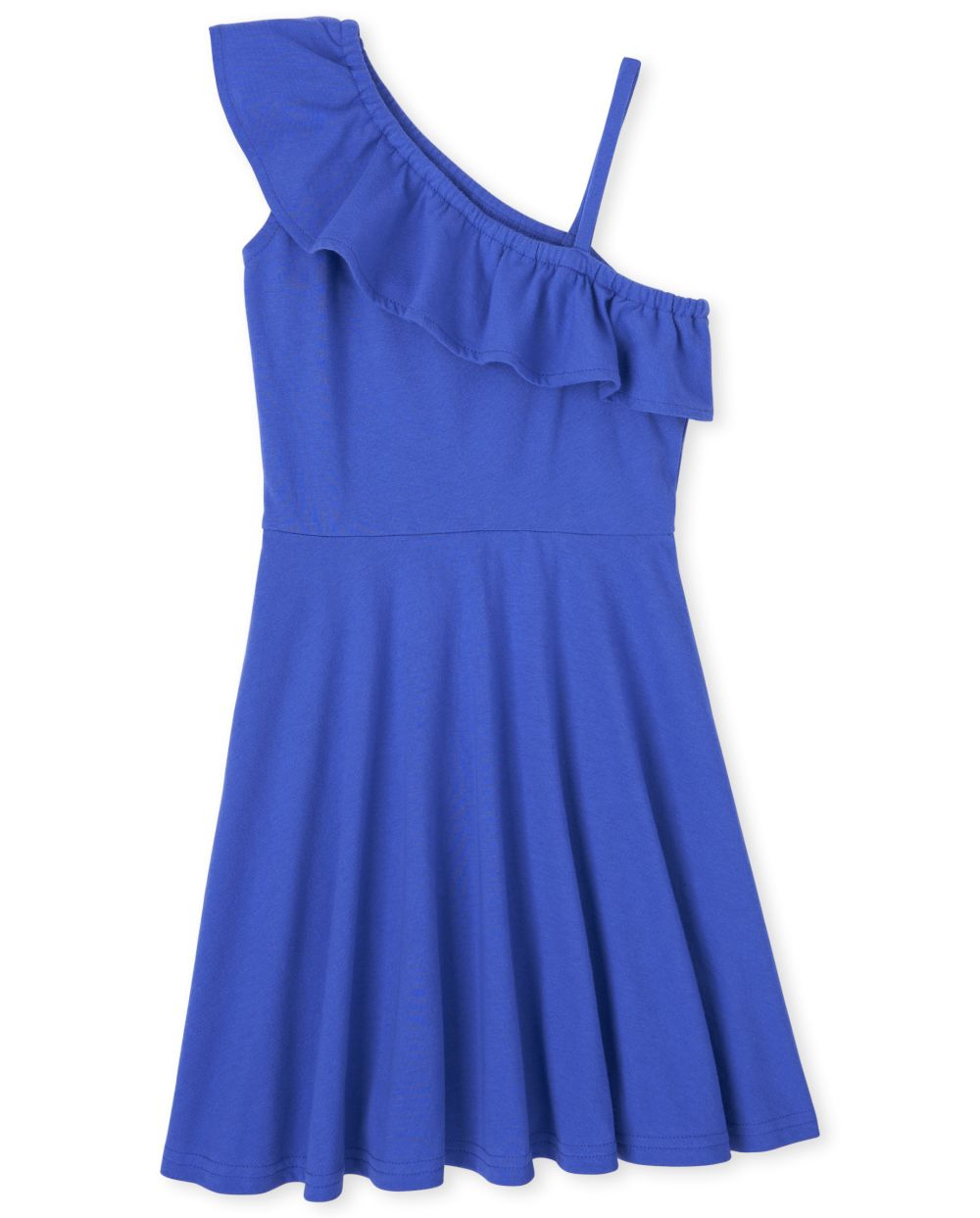 Girls Ruffle One Shoulder Dress