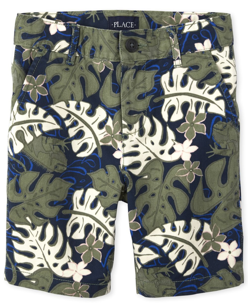 Boys Print Chino Shorts