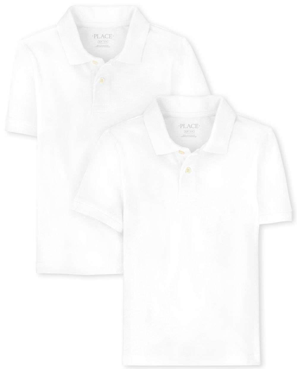 Boys Uniform Jersey Polo 2-Pack