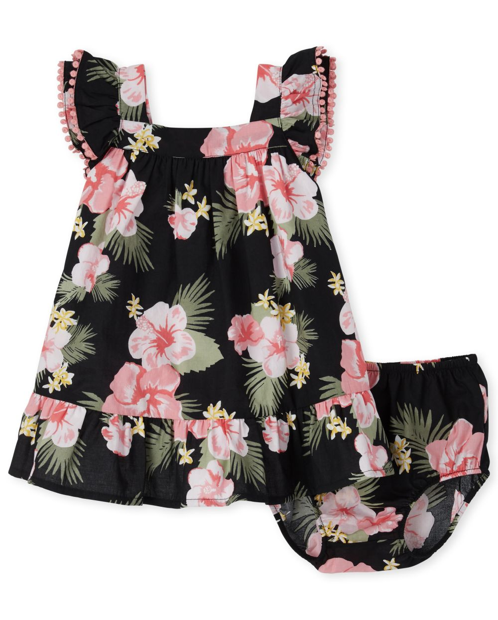 Baby Girls Matching Family Tropical Shift Dress