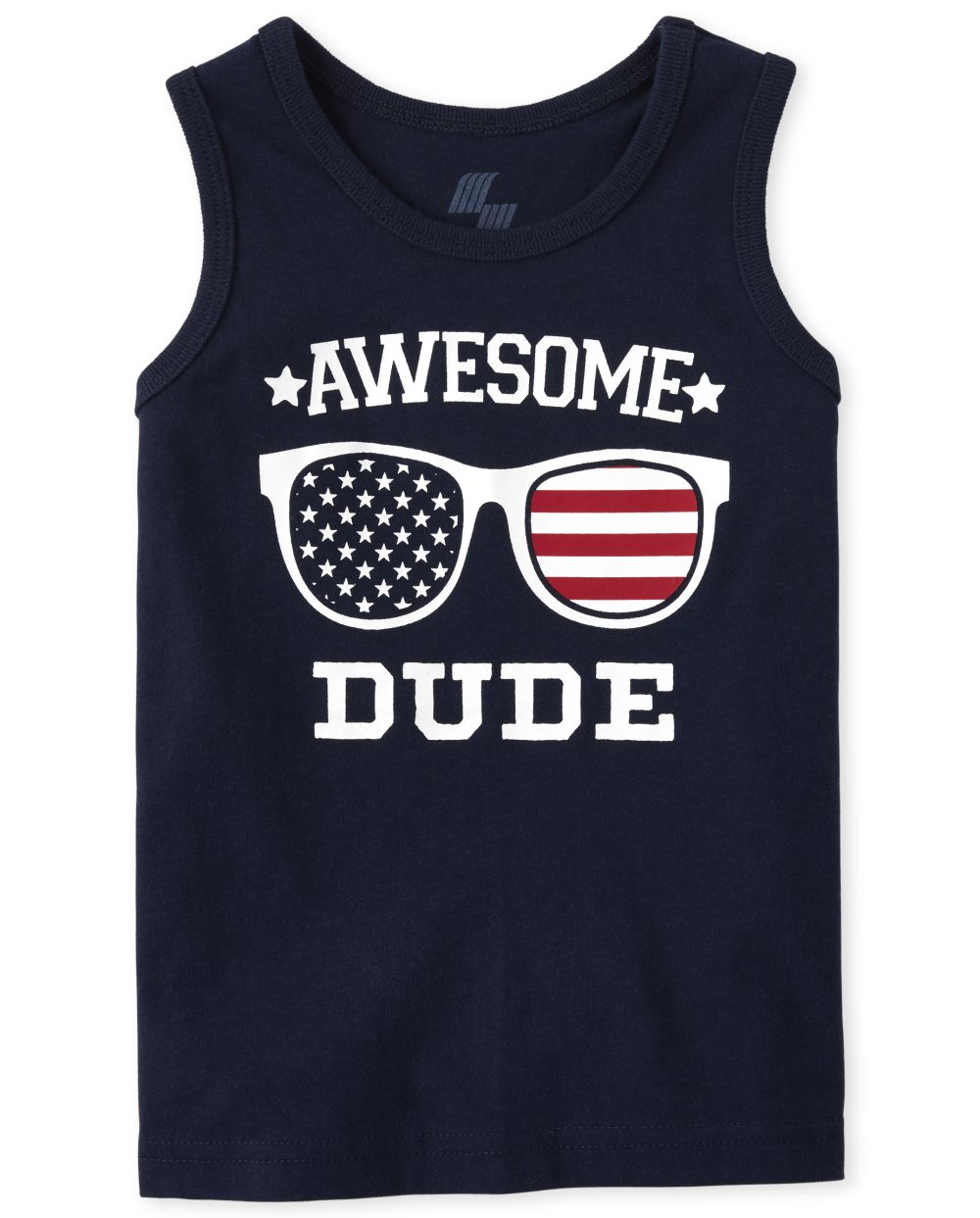 Baby And Toddler Boys Americana Mix And Match Awesome Flag Tank Top