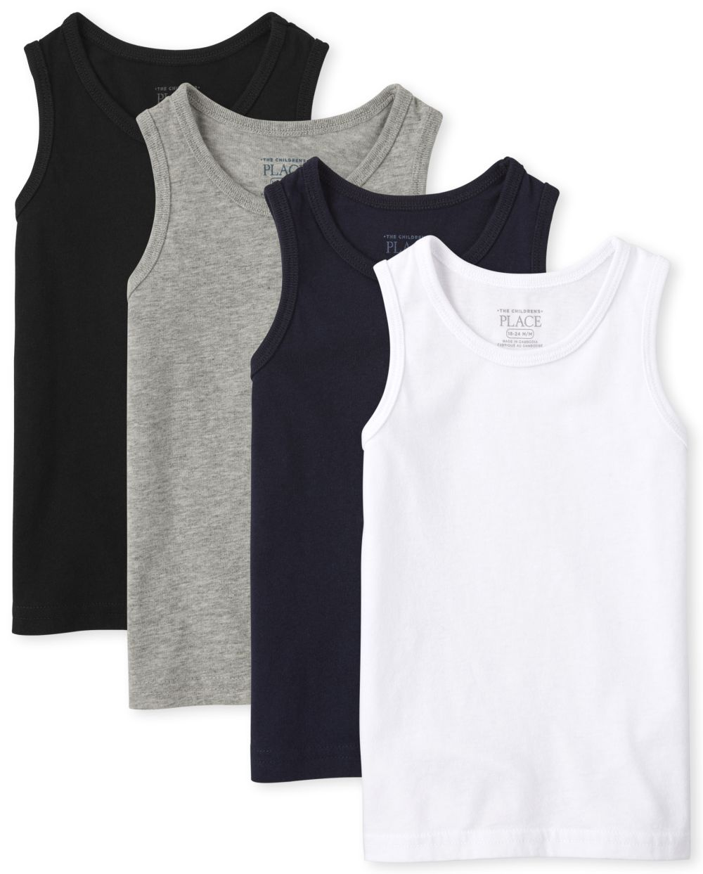 Baby And Toddler Boys Mix And Match Basic Tank Top 4-Pack
