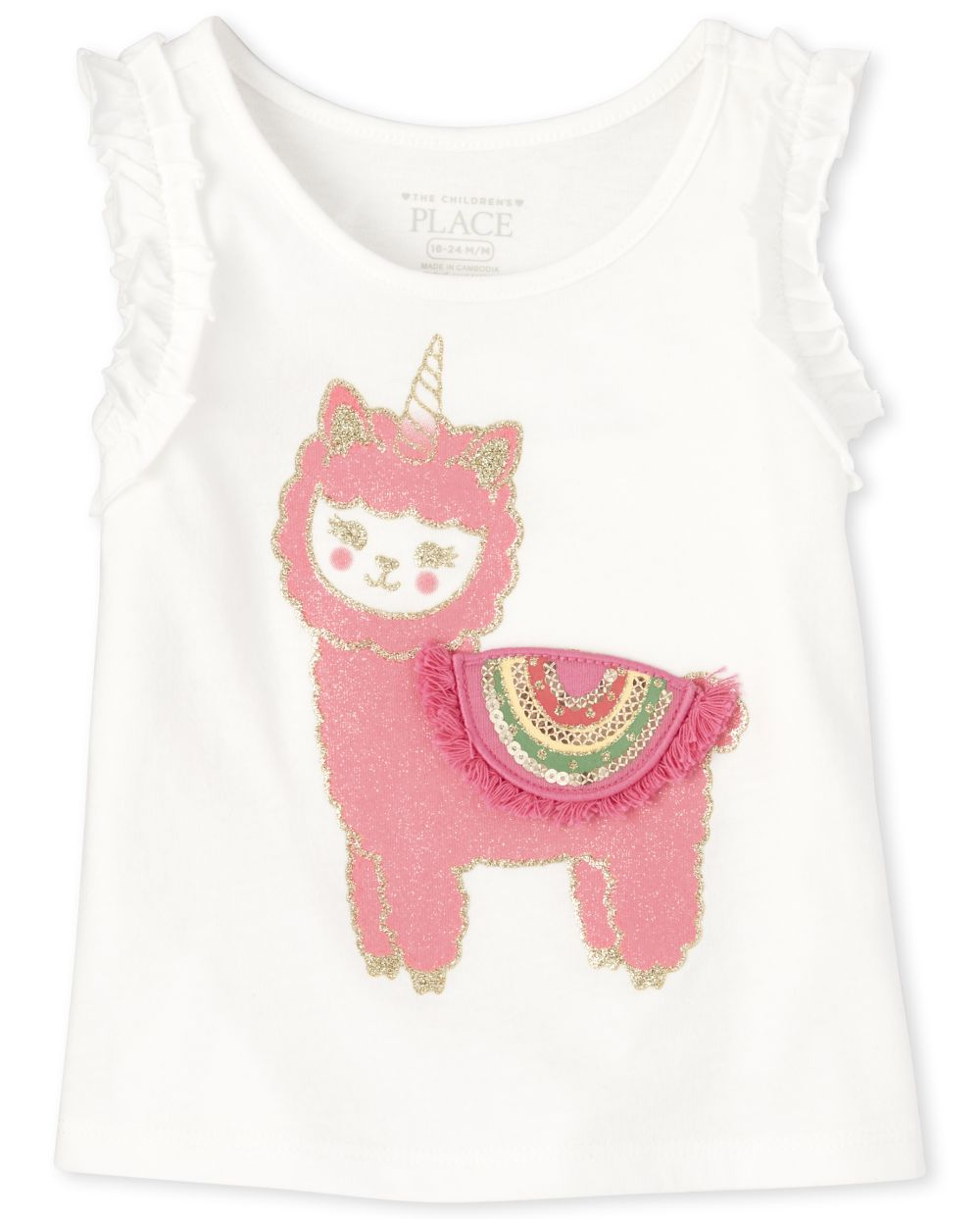 Baby And Toddler Girls Ruffle Tank Top