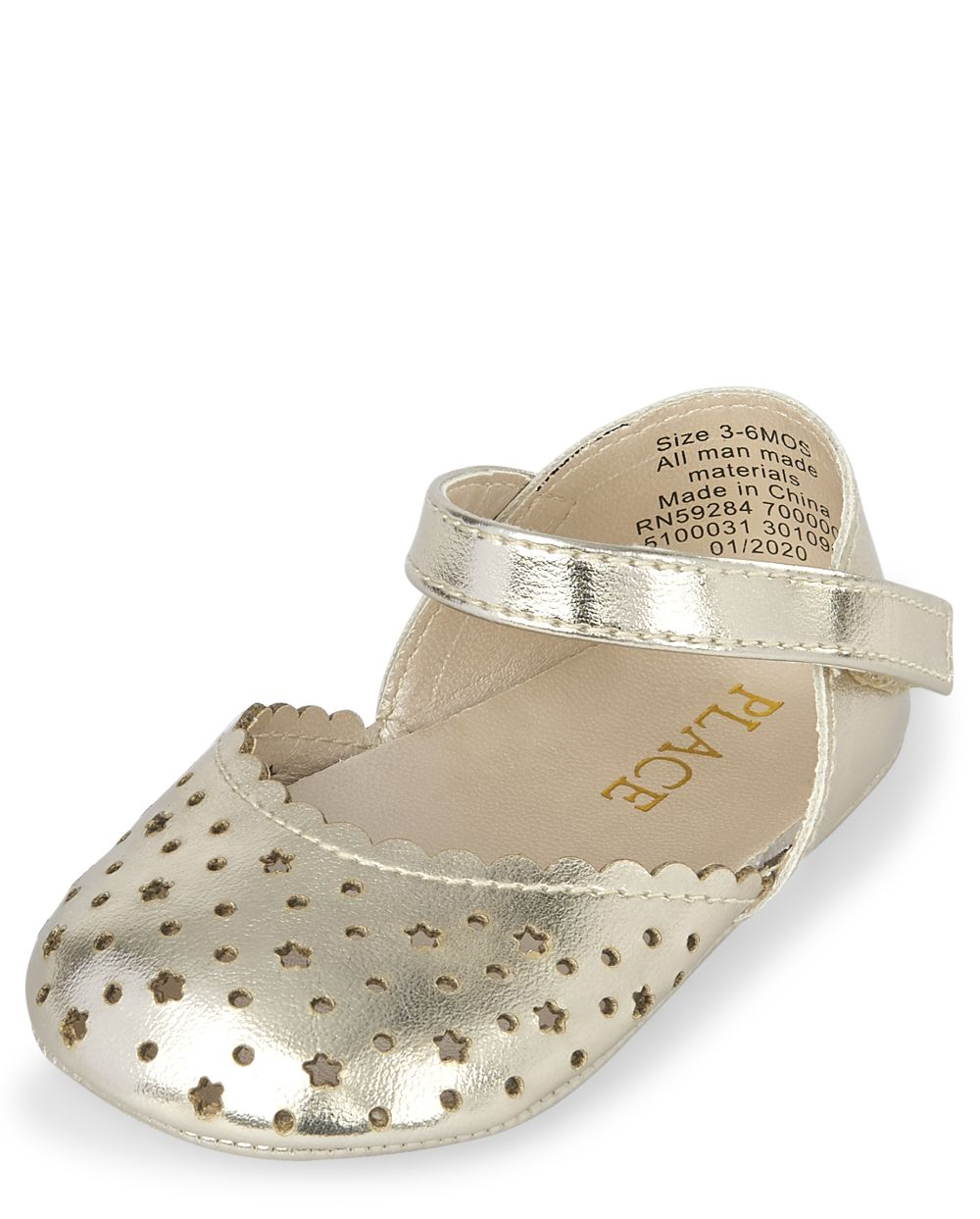 Baby Girls Metallic Star Ballet Flats