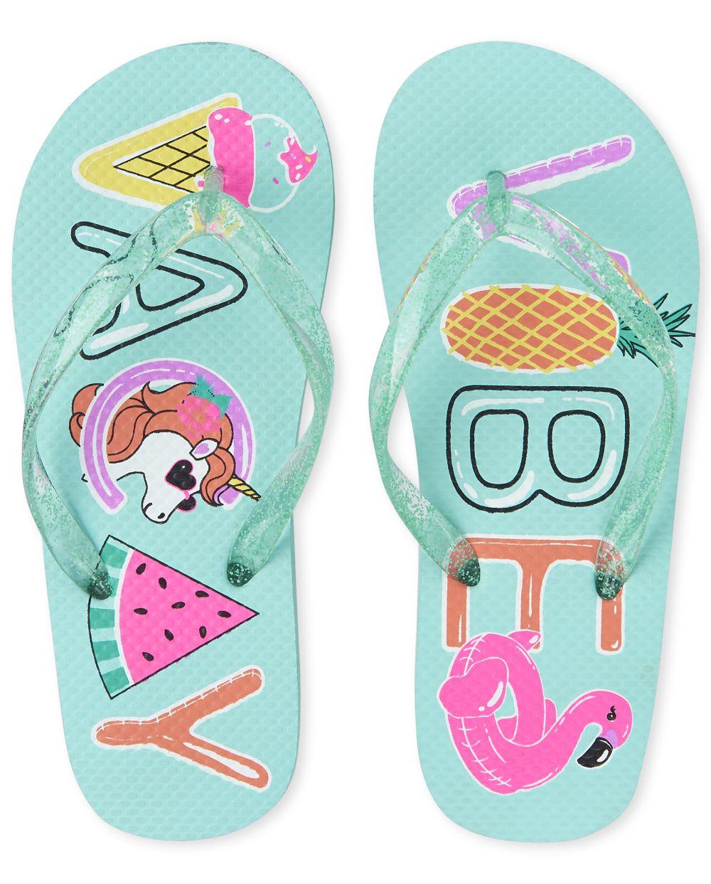 Girls Vacay Vibes Flip Flops
