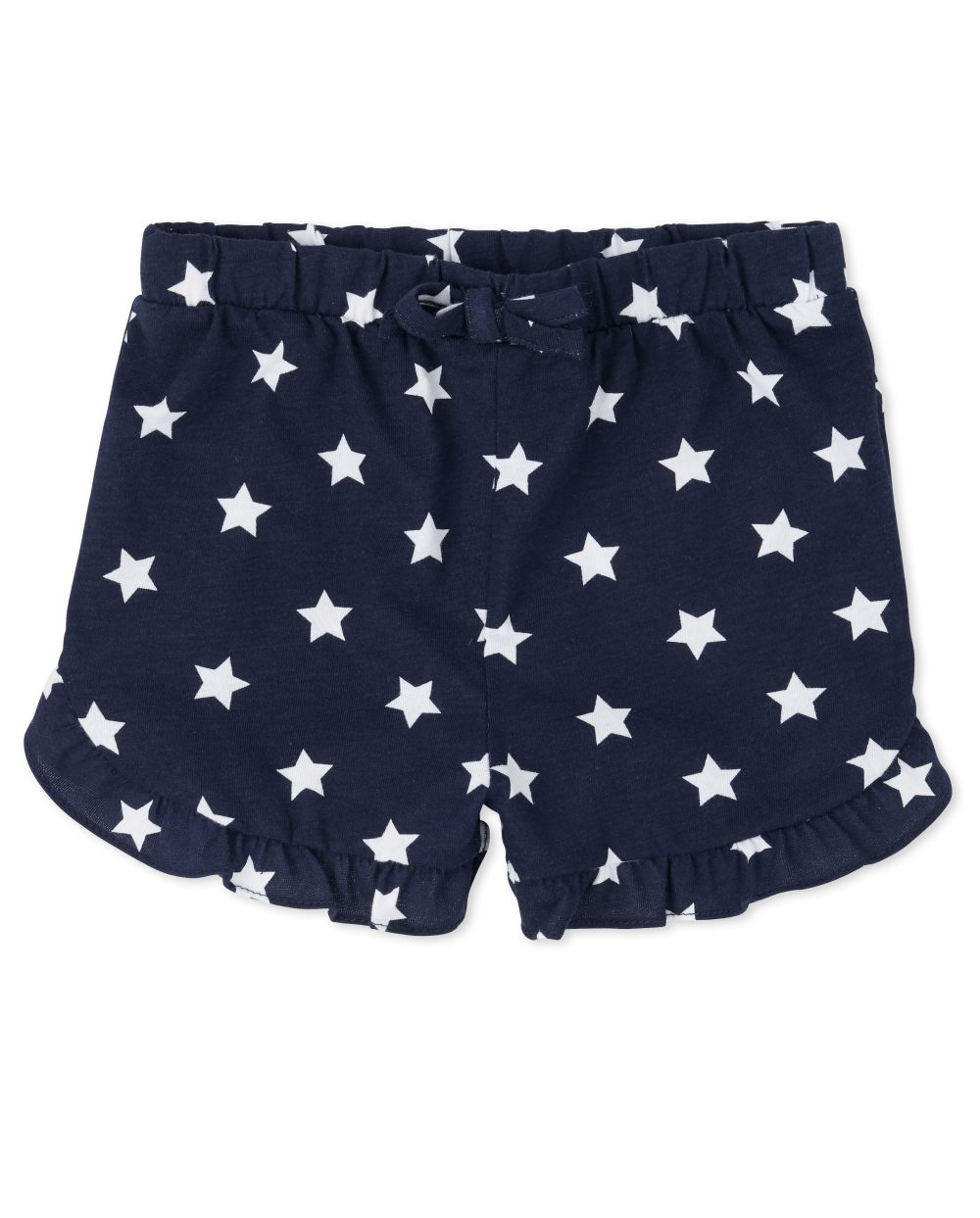 Baby And Toddler Girls Americana Mix And Match Star Ruffle Shorts