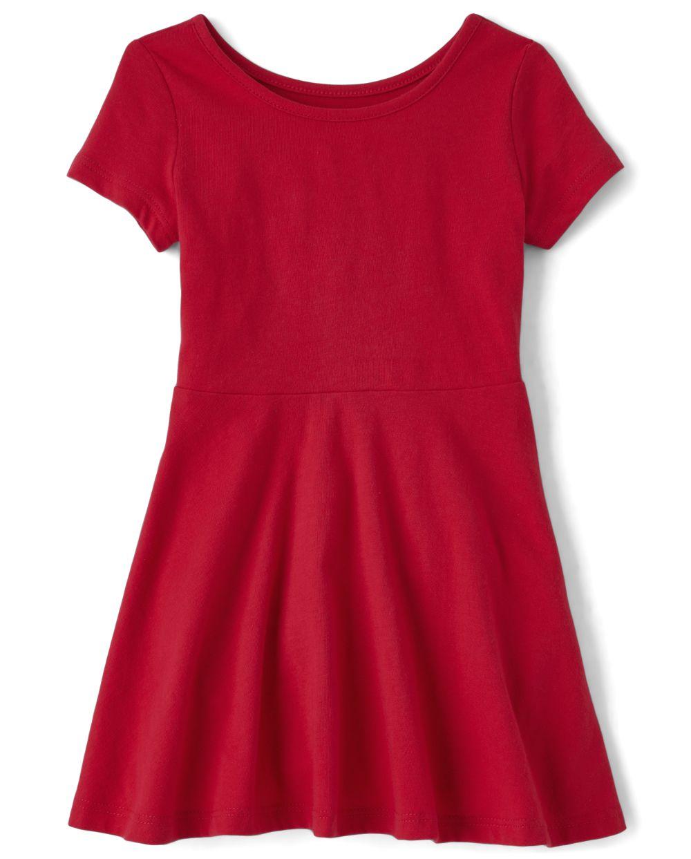 Toddler Girls Uniform Skater Dress