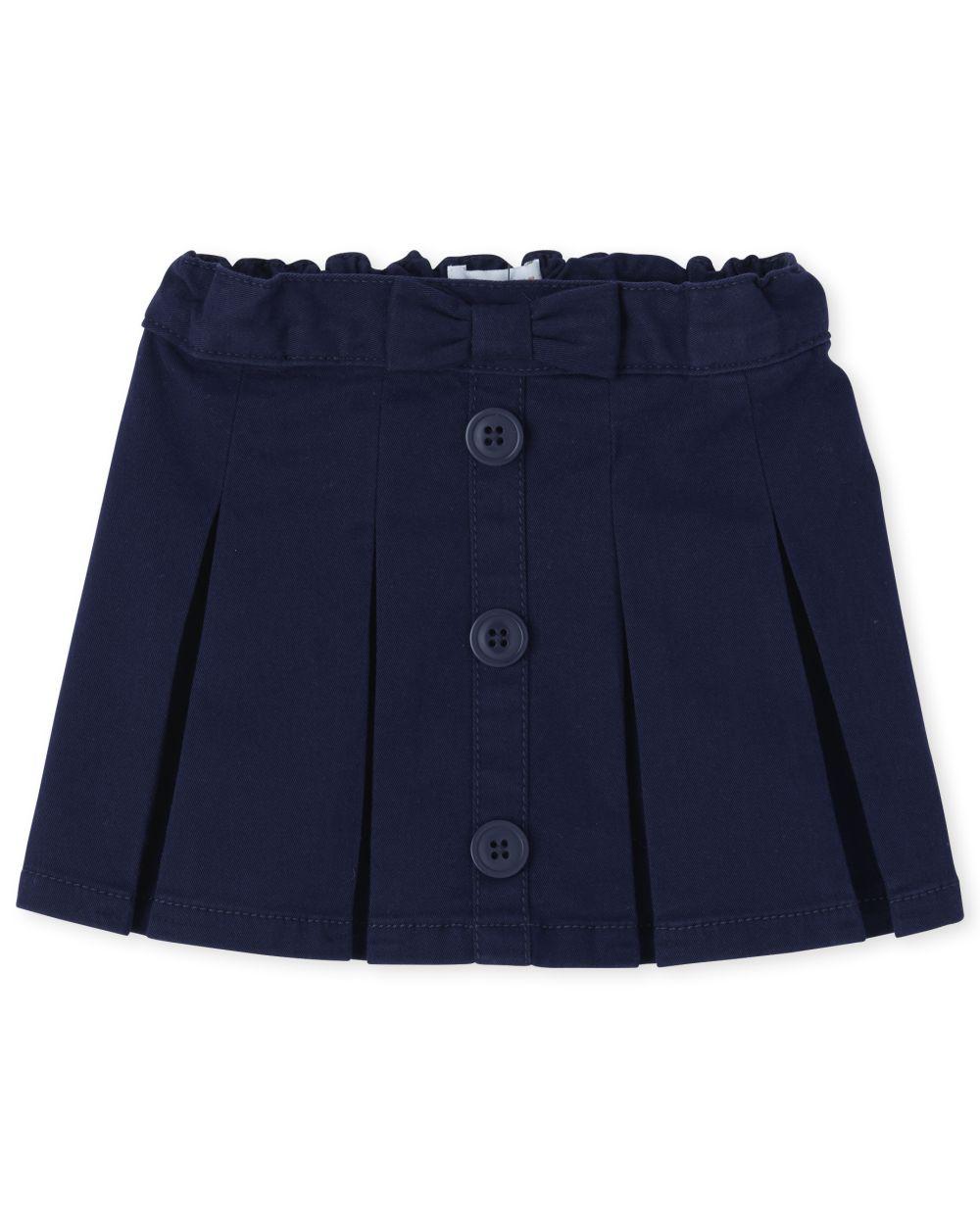Toddler Girls Uniform Button Skort