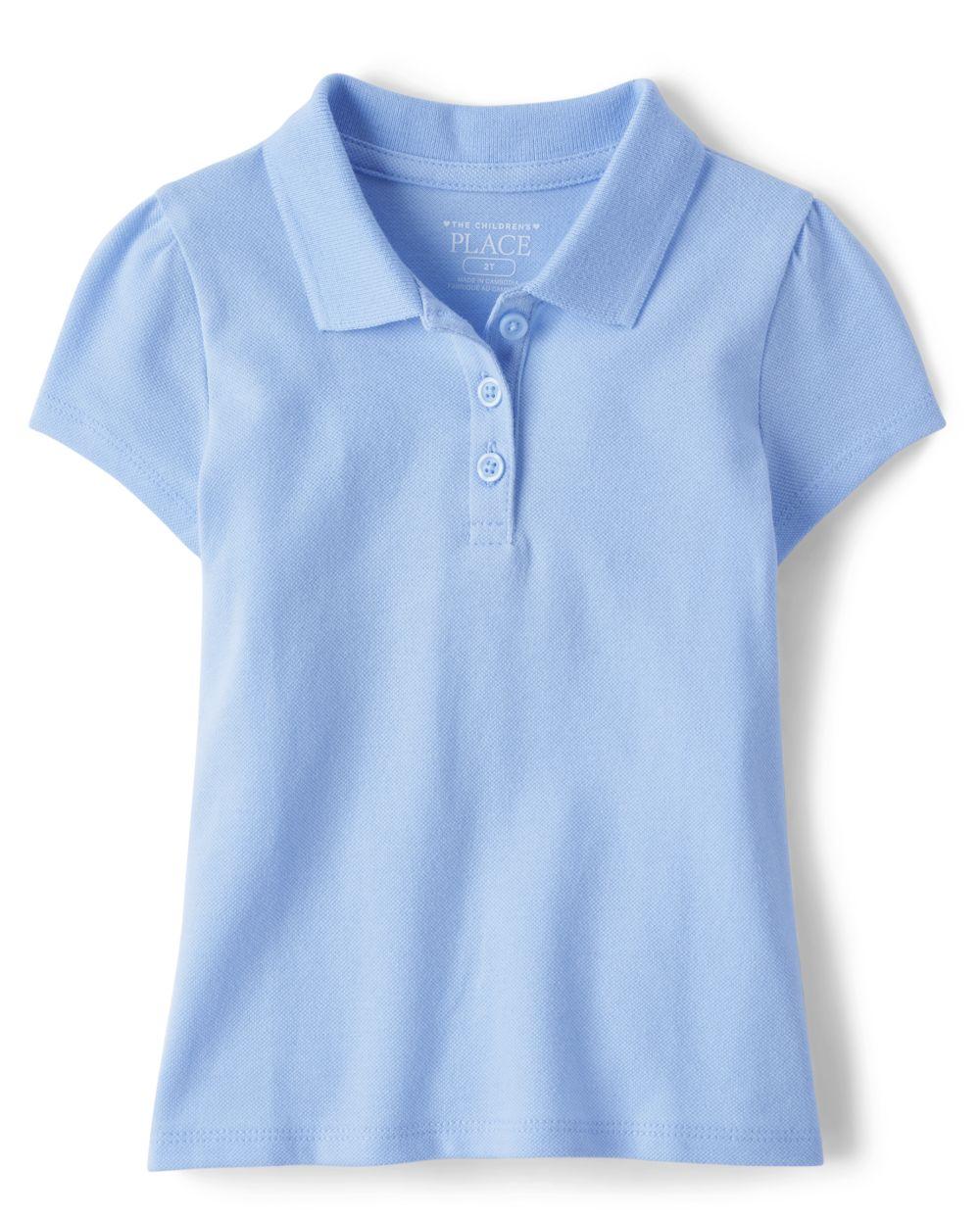 Toddler Girls Uniform Pique Polo