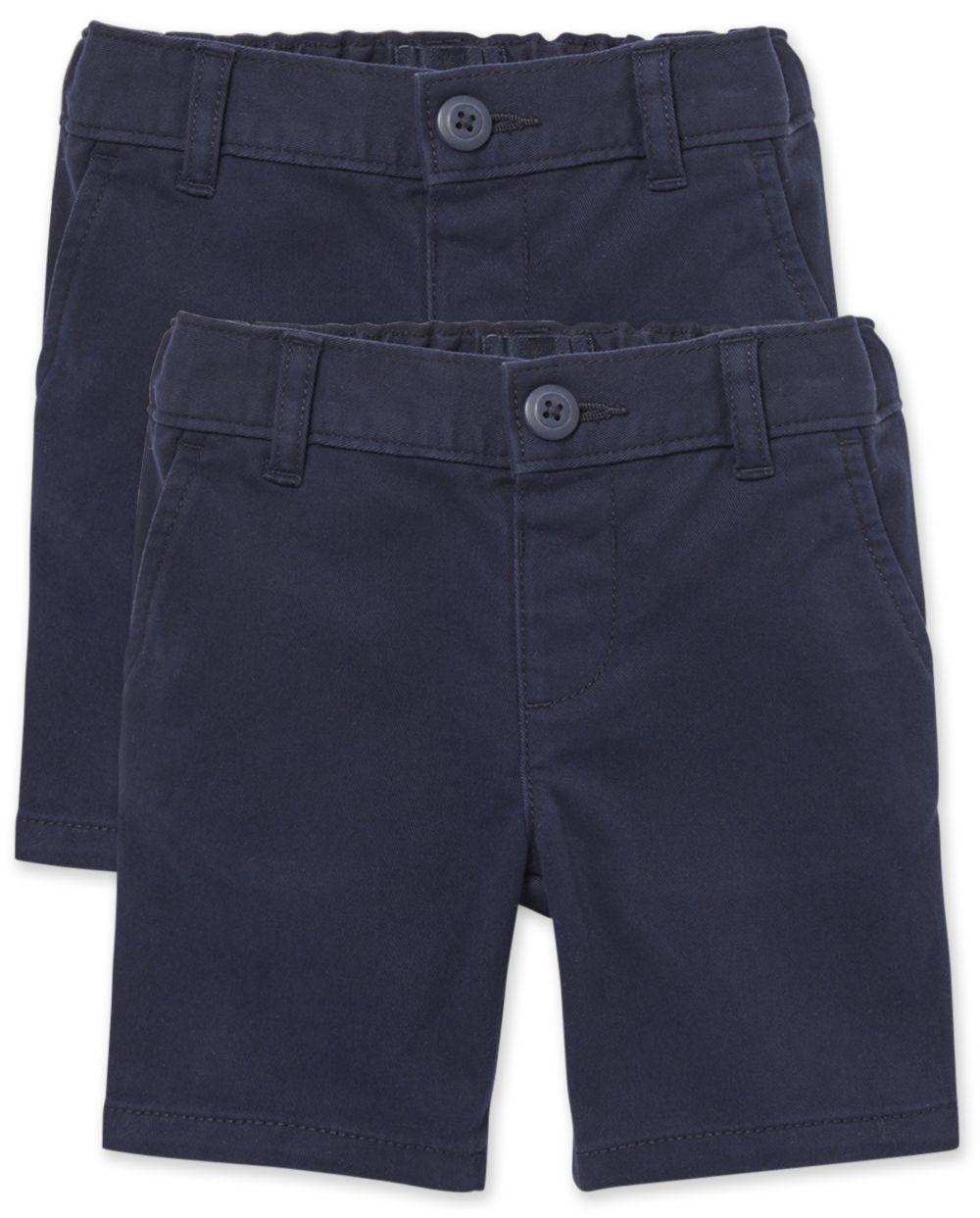 Toddler Girls Uniform Chino Shorts 2-Pack
