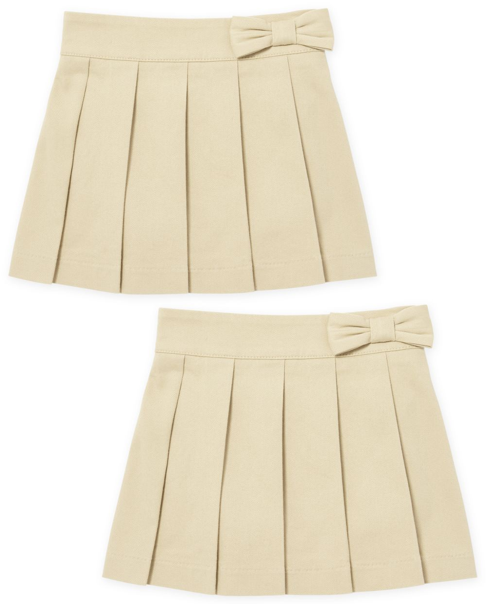 Toddler Girls Uniform Pleated Skort 2-Pack