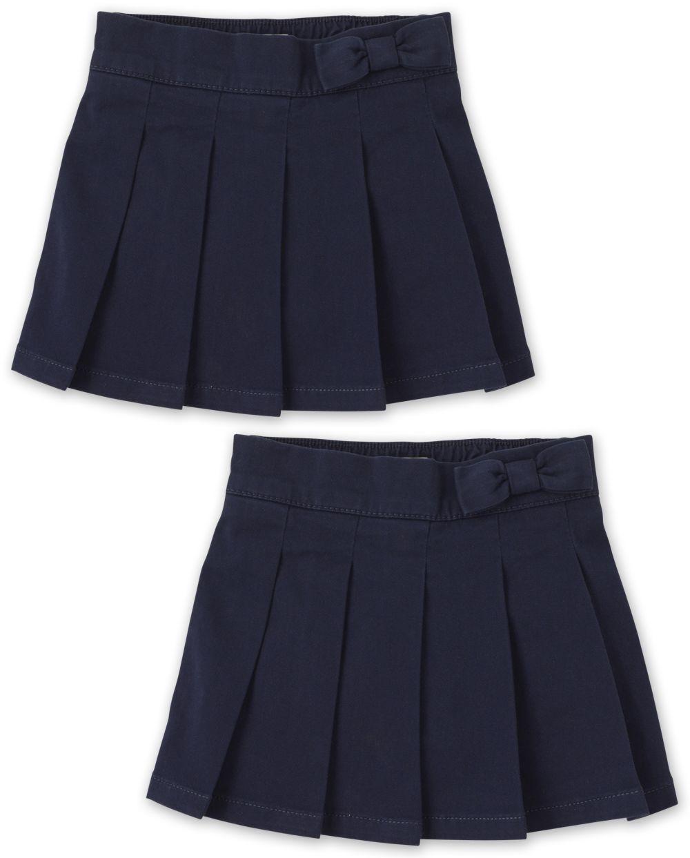 Toddler Girls Uniform Pleated Skort 2-Pack