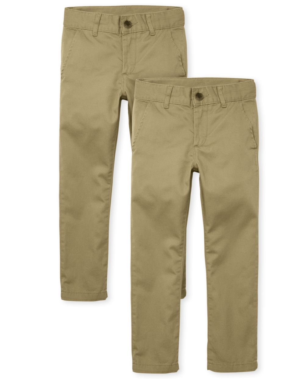 Boys Uniform Skinny Chino Pants 2-Pack
