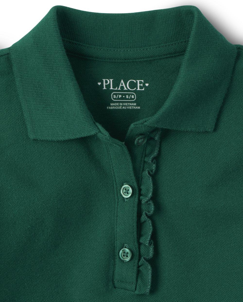 M Ruby 3378 7//8 The Childrens Place Big Girls Uniform Short Sleeve Polo
