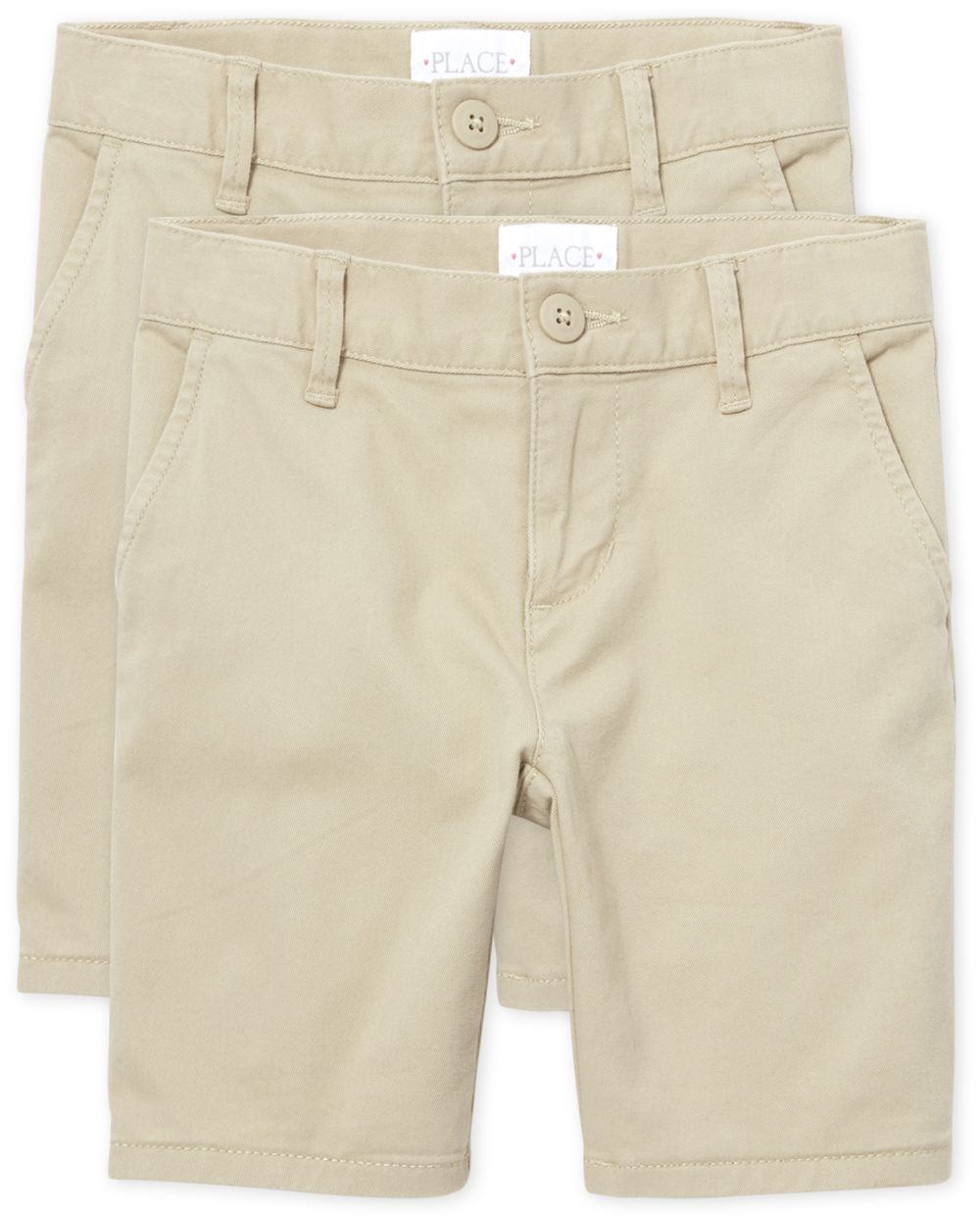 Girls Uniform Chino Shorts 2-Pack
