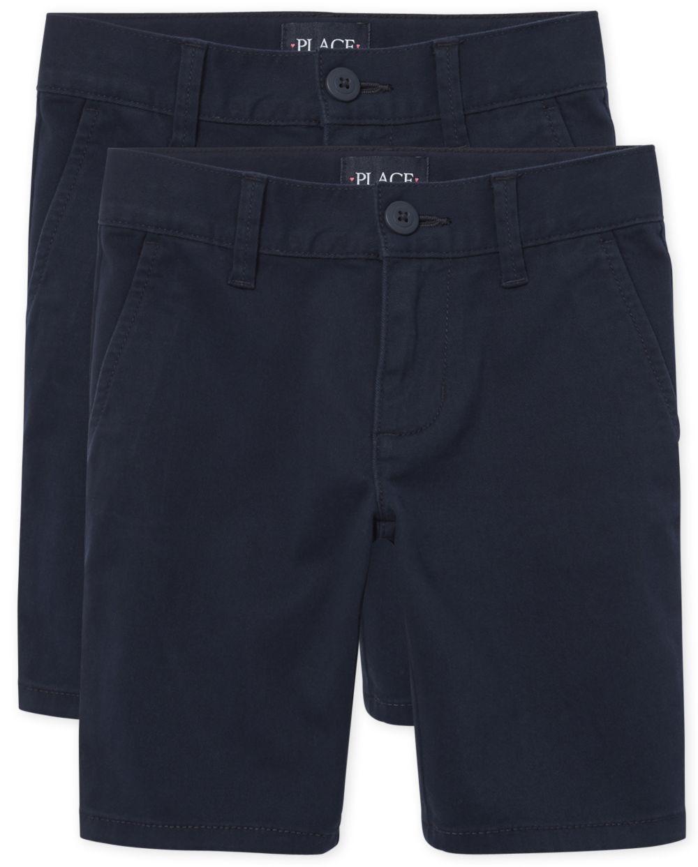 Girls Uniform Chino Shorts 2-Pack