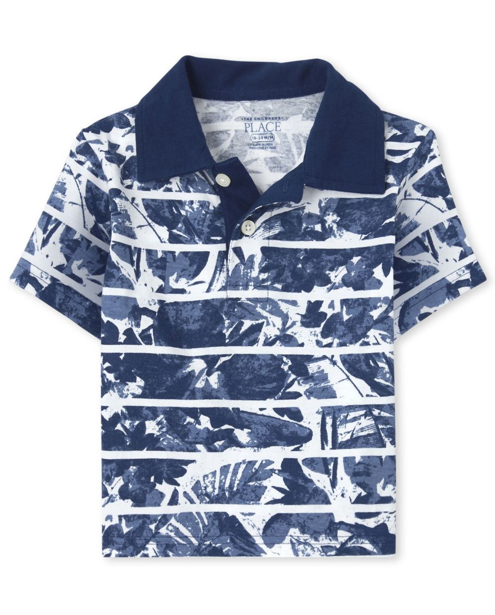 Baby And Toddler Boys Print Jersey Polo