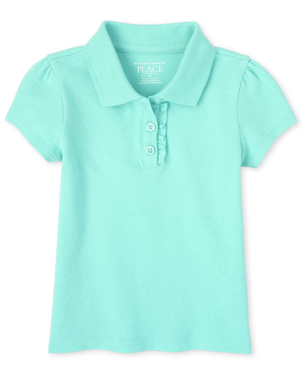 Toddler Girls Uniform Pique Polo
