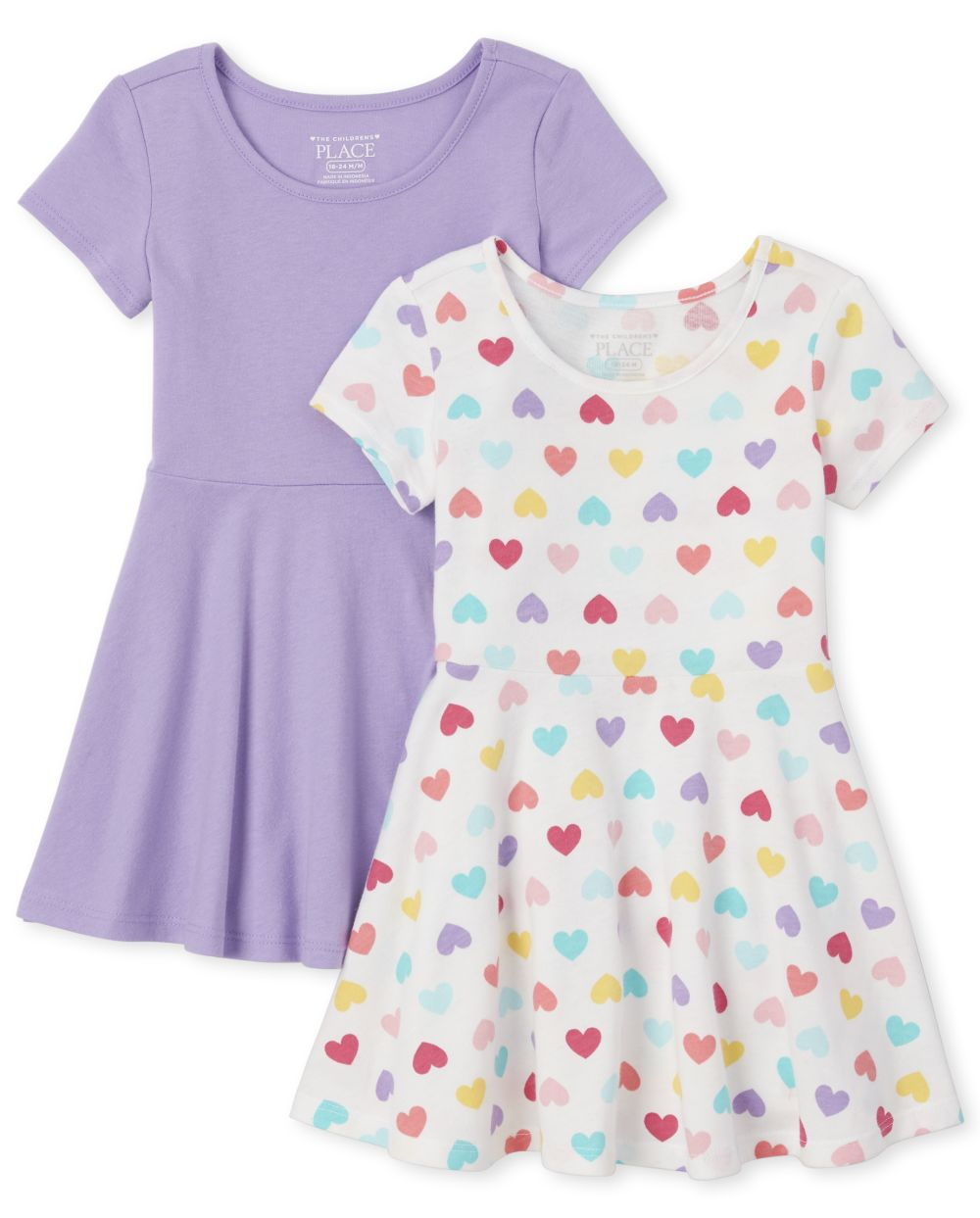 Baby And Toddler Girls Print Skater Dress 2-Pack