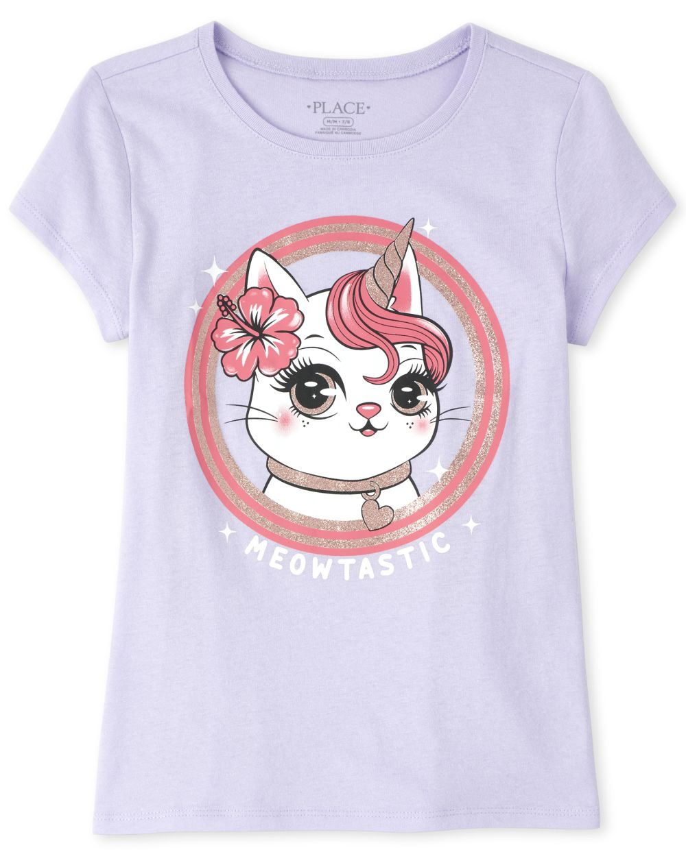 Girls Caticorn Graphic Tee