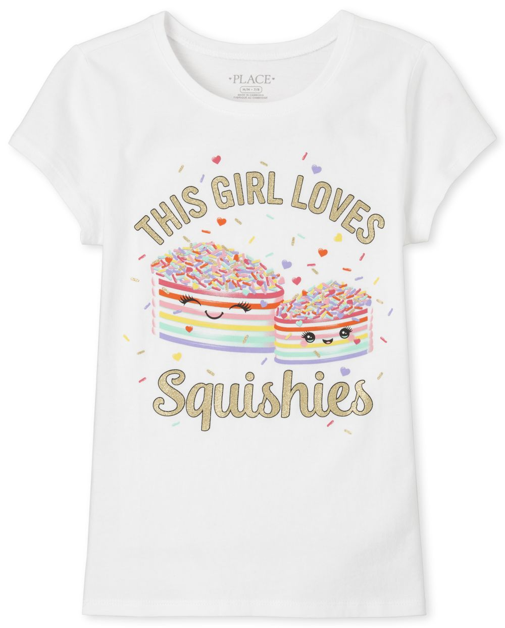Girls Glitter Squishies Graphic Tee