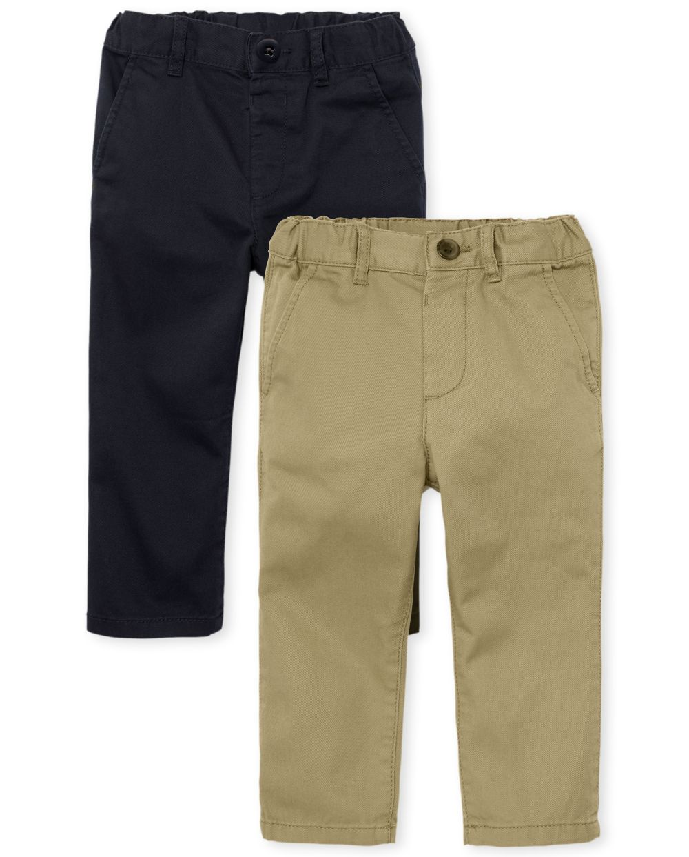 Baby And Toddler Boys Uniform Skinny Chino Pants 2-Pack