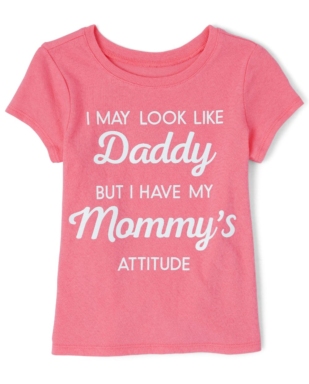 Baby And Toddler Girls Glitter Mommy And Daddy Graphic Tee