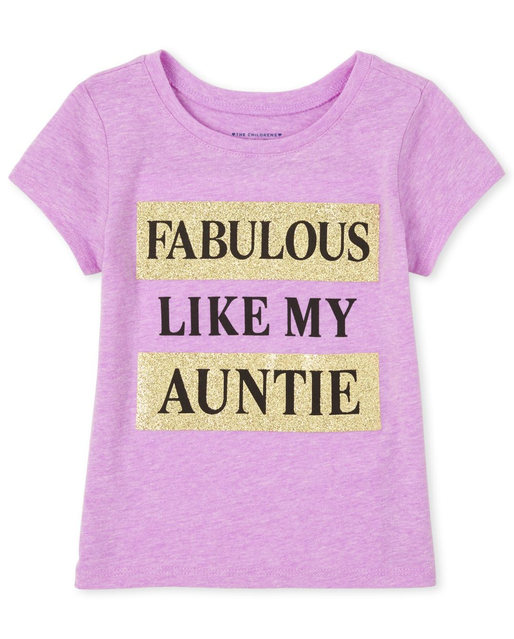 Baby And Toddler Girls Glitter Fabulous Like Auntie Graphic Tee