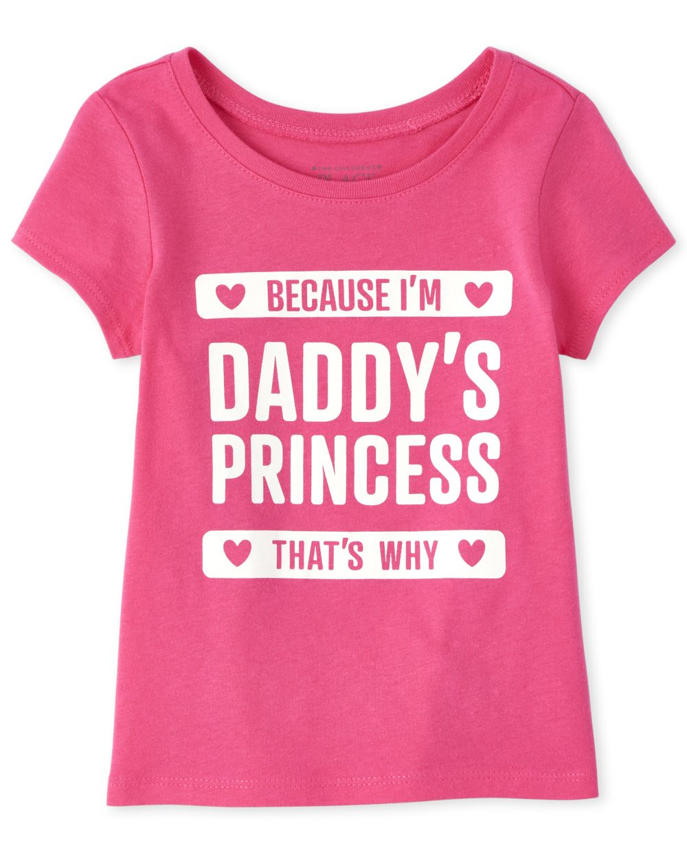 Baby And Toddler Girls Glitter Daddy's Princess Graphic Tee