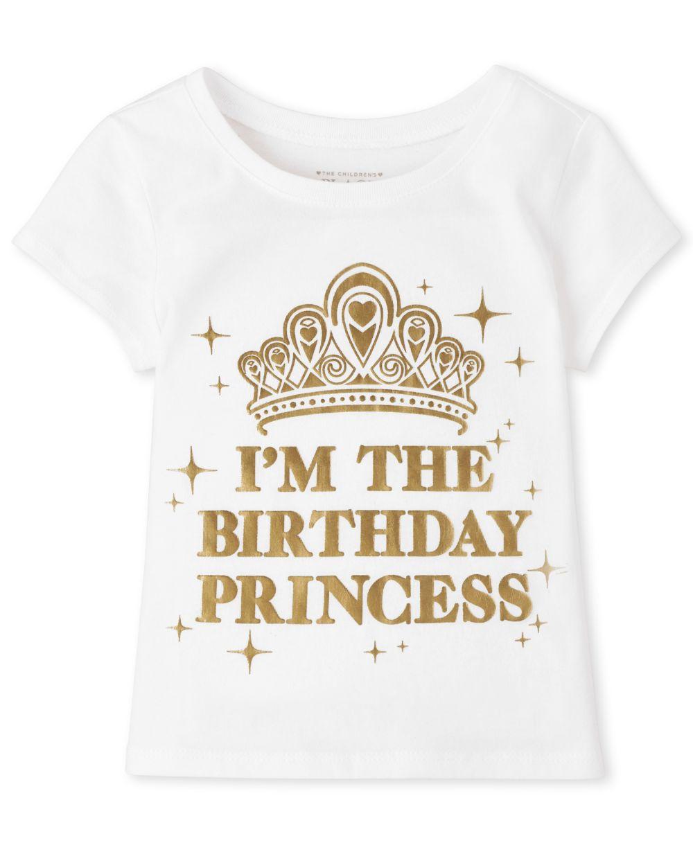 Baby And Toddler Girls Birthday Princess Graphic Tee