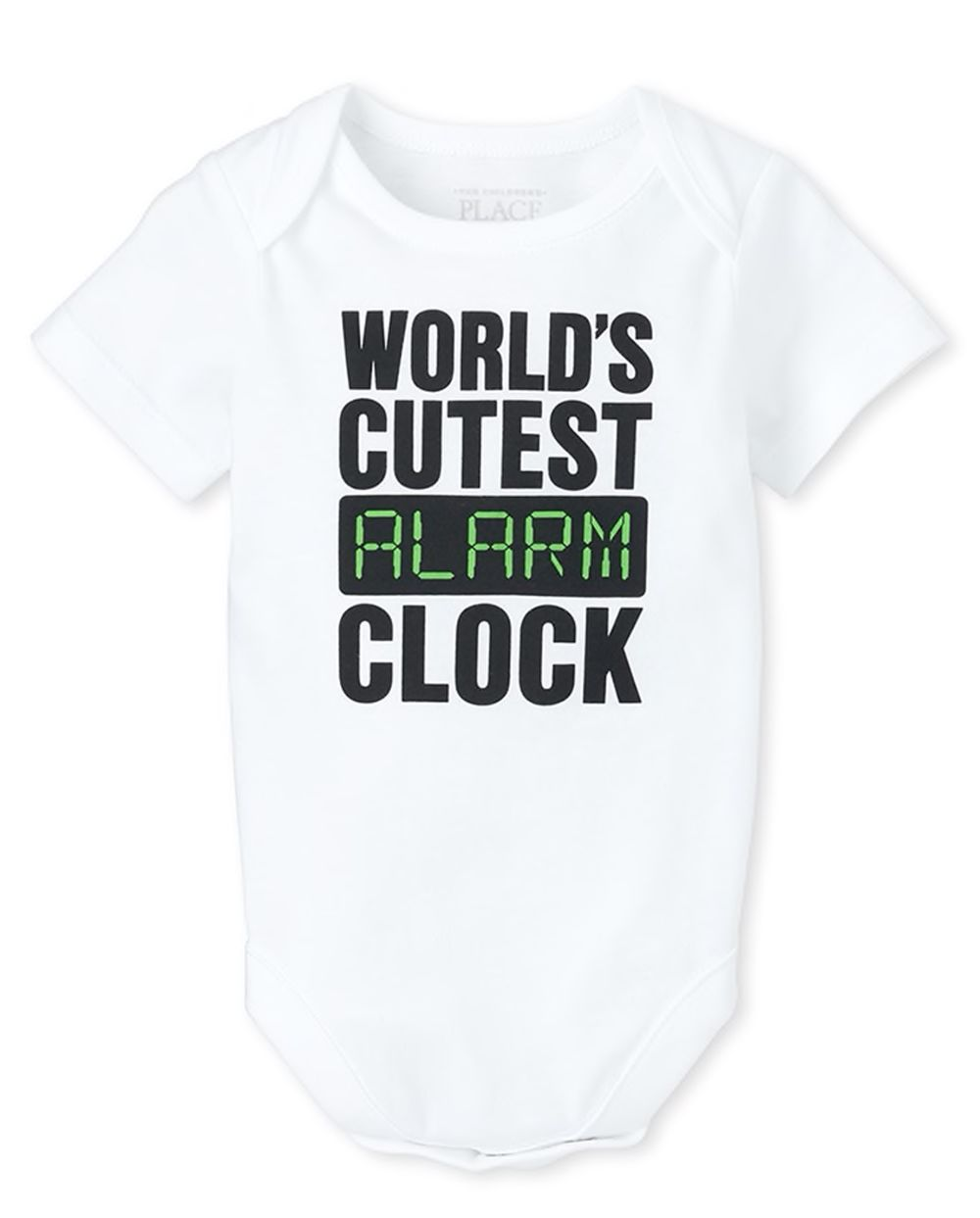 Unisex Baby Alarm Clock Graphic Bodysuit