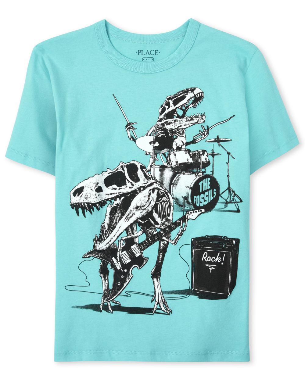 Boys Dino Band Graphic Tee