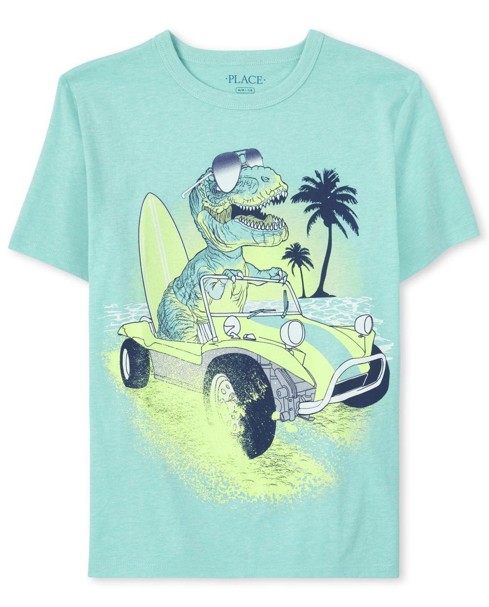 Boys Beach Dino Graphic Tee