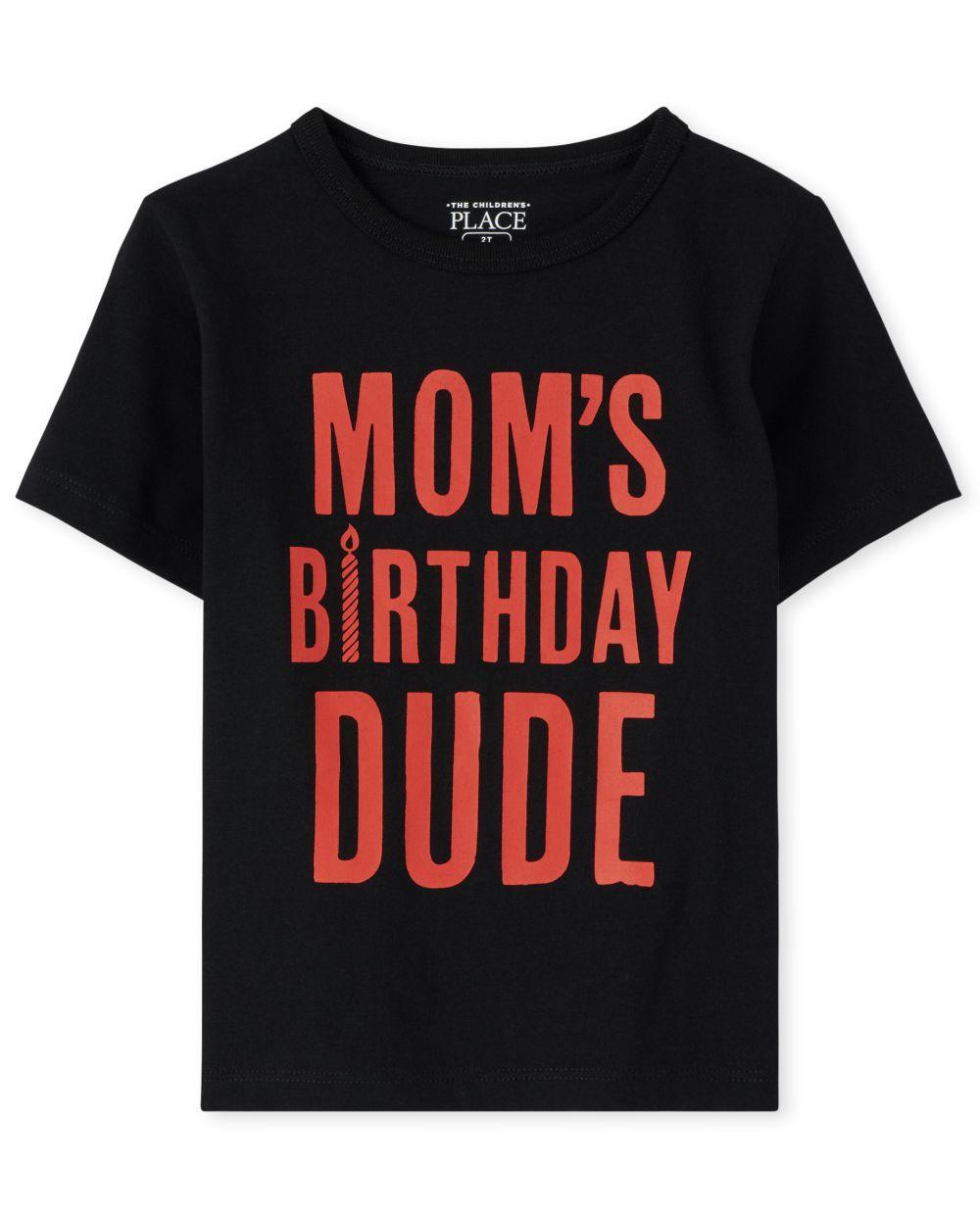 Camiseta estampada tipo cumpleaños de mamá ' s para bebés y niños pequeños