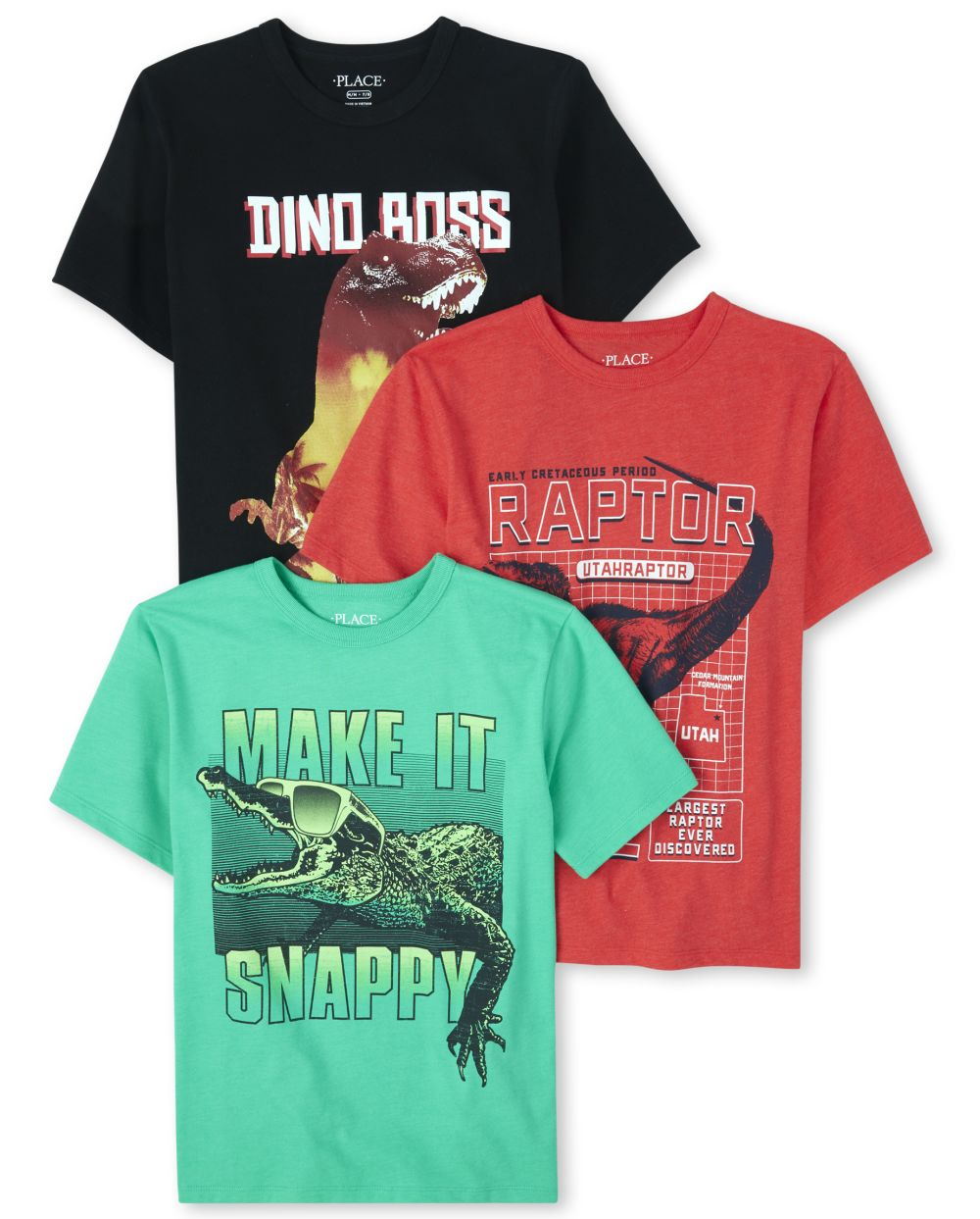 Boys Dino Graphic Tee 3-Pack