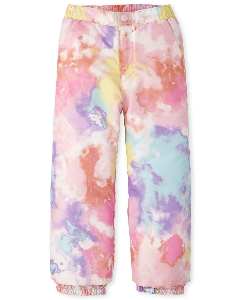 Pantalones de nieve estampados para niñas