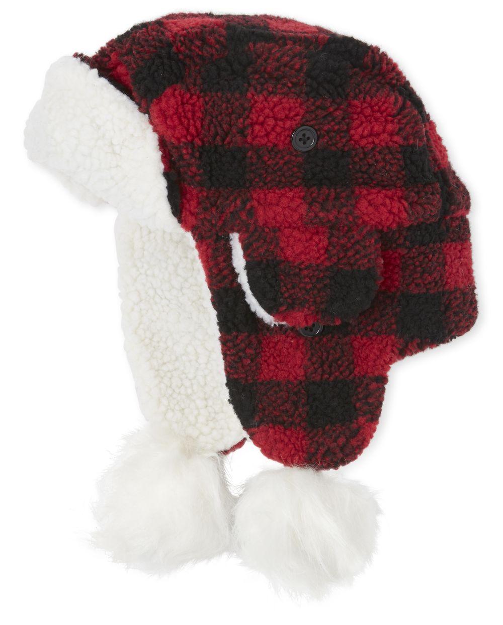 Girls Matching Family Buffalo Plaid Trapper Hat