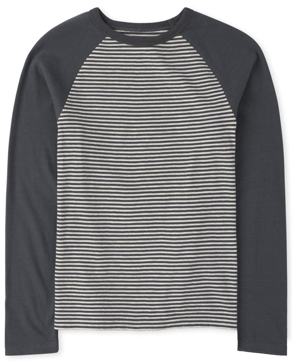 Boys Striped Raglan Top