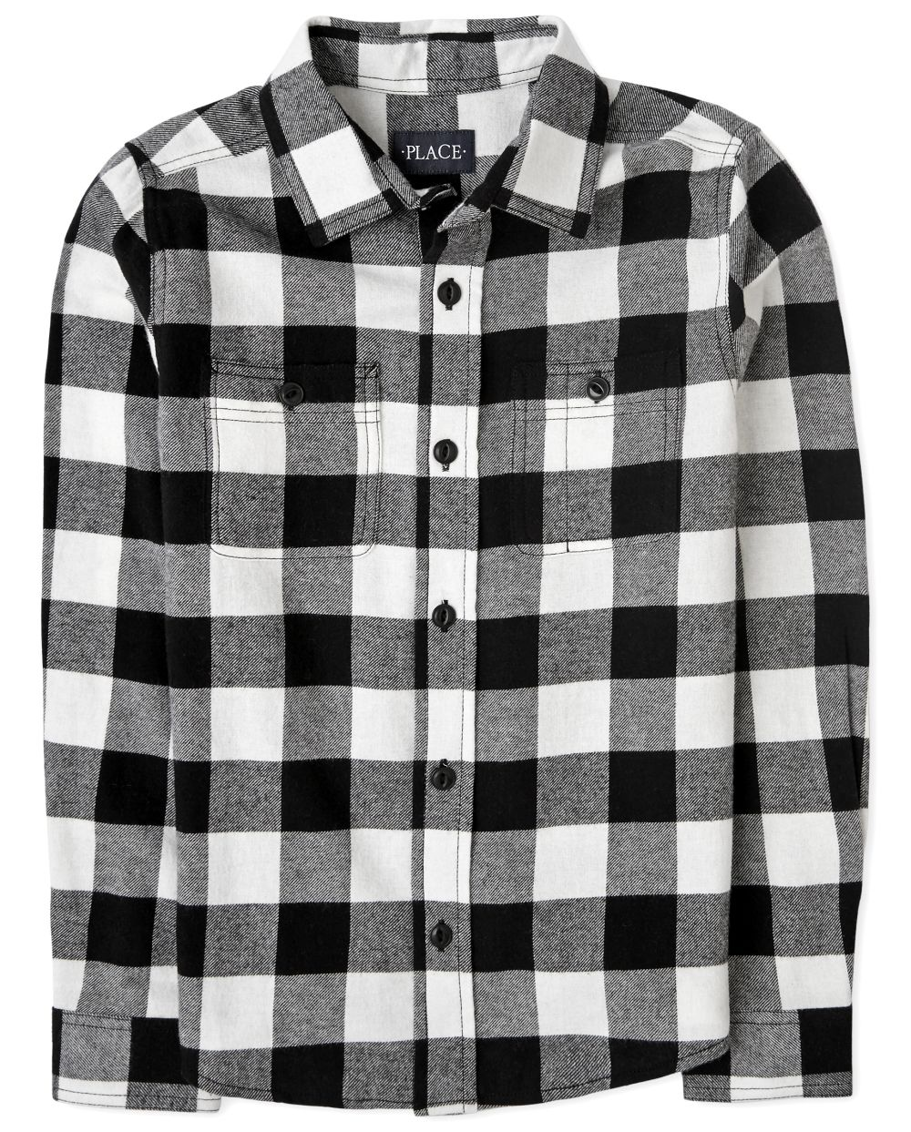 Boys Matching Family Buffalo Plaid Flannel Button Down Shirt