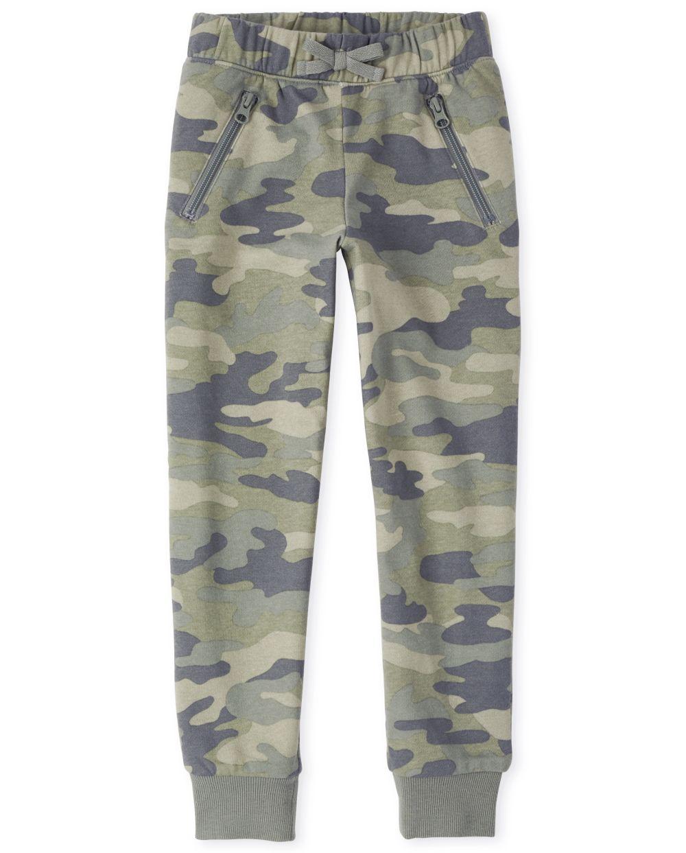 Pantalones de chándal French Terry Active Camo para niñas