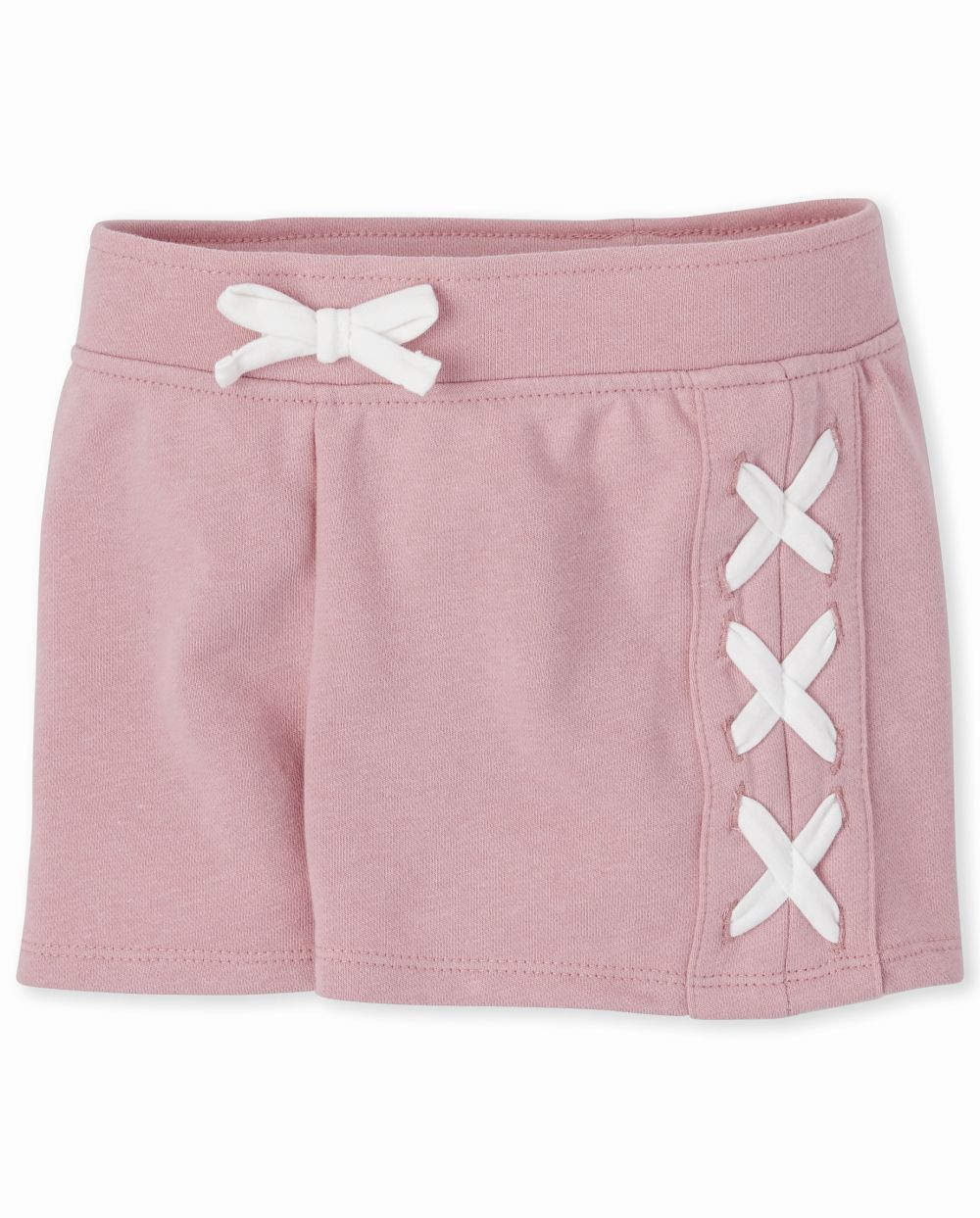 Girls Active French Terry Lace Up Shorts