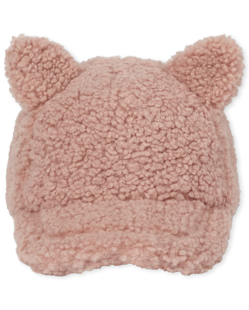 Girls Faux Fur Cat Baseball Hat