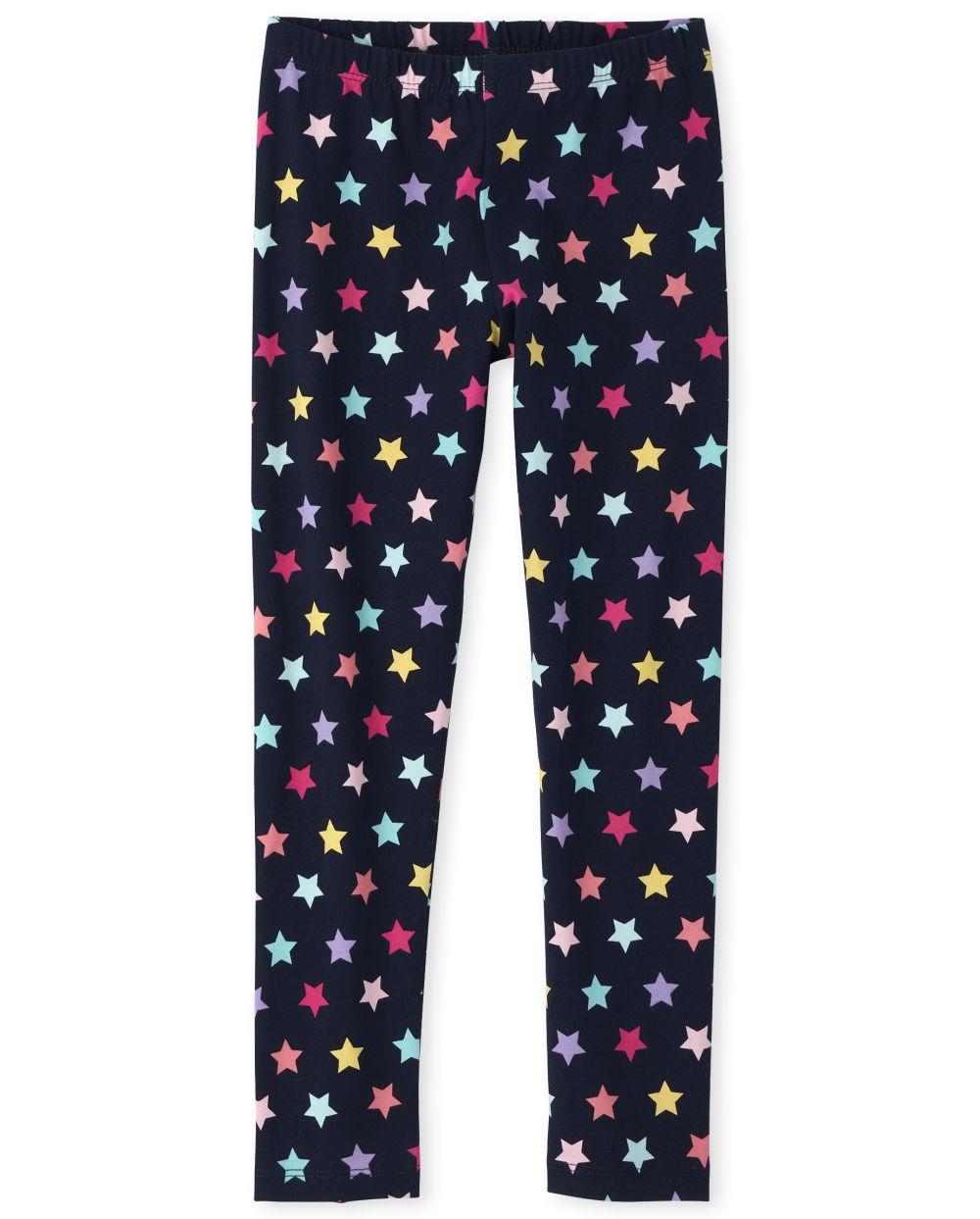 Girls Rainbow Star Essential Leggings