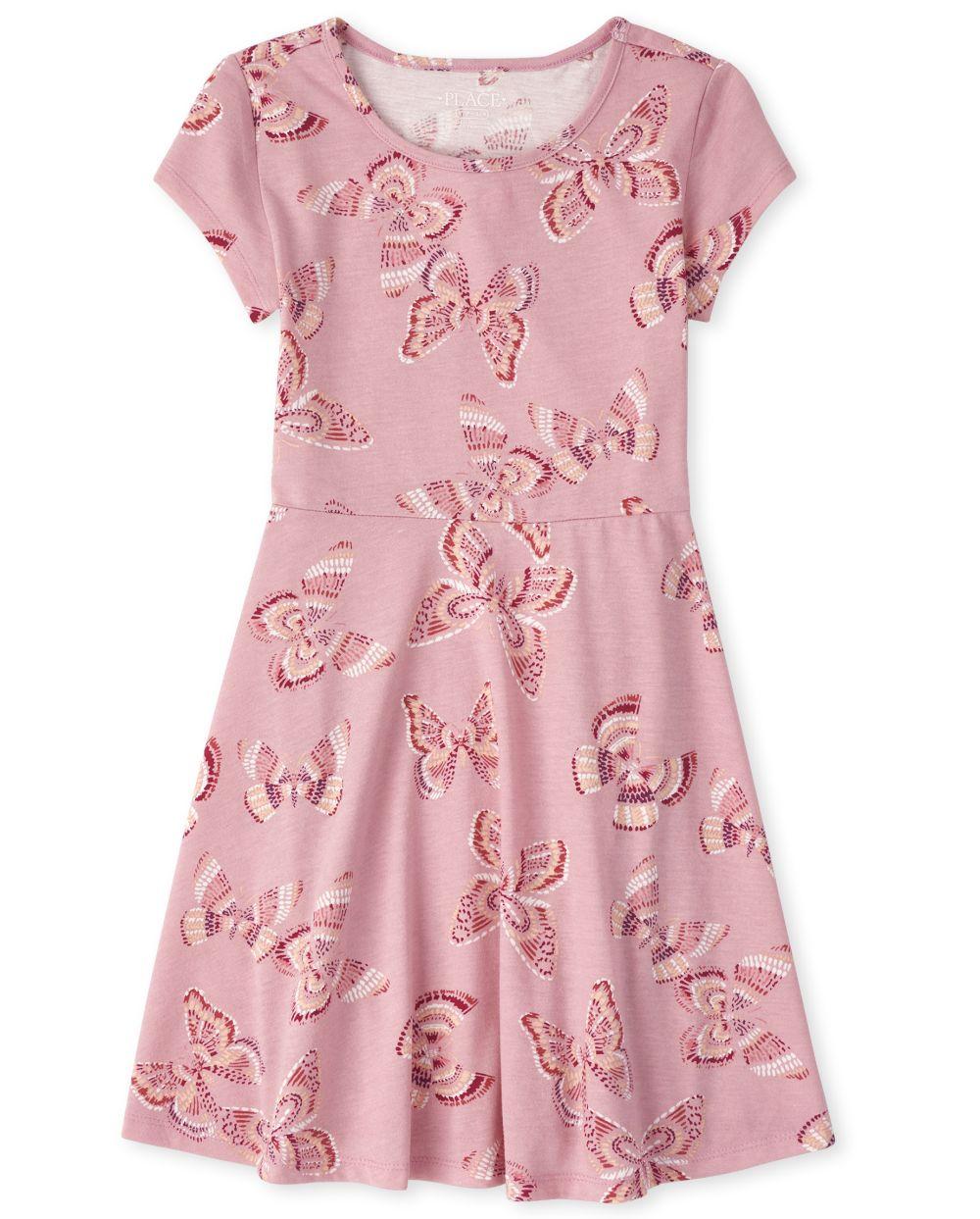 Girls Floral Skater Dress
