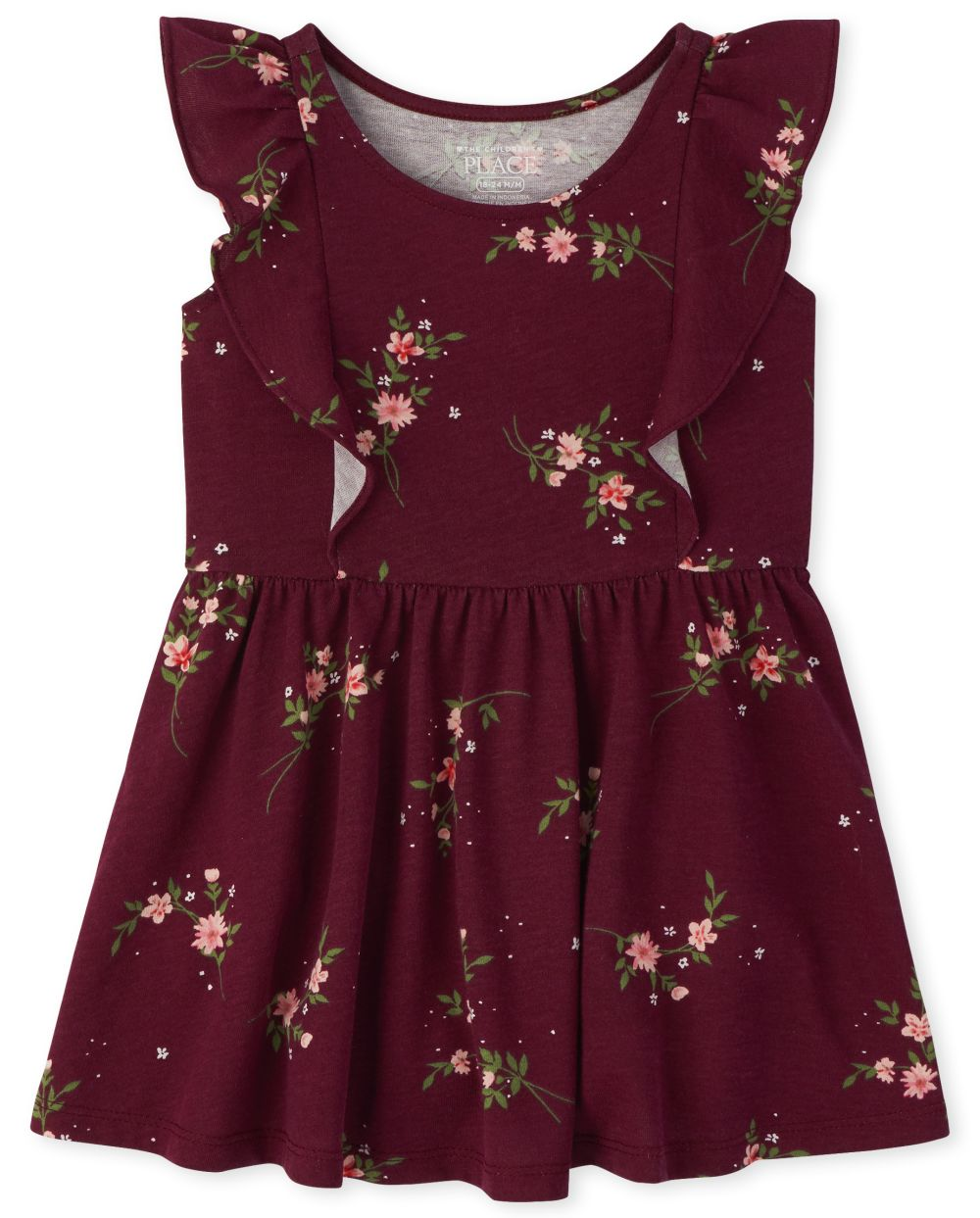 Baby And Toddler Girls Floral Ruffle Dress